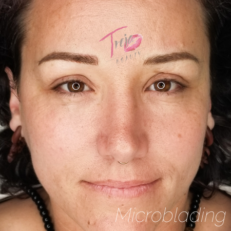 full face view of microblading